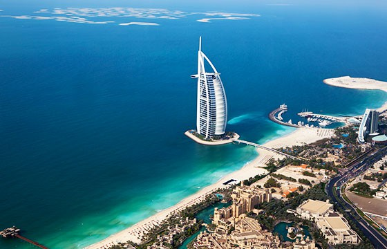 Dubai - Burj Al Arab - Helicopter View-Sam valadi-Flickr