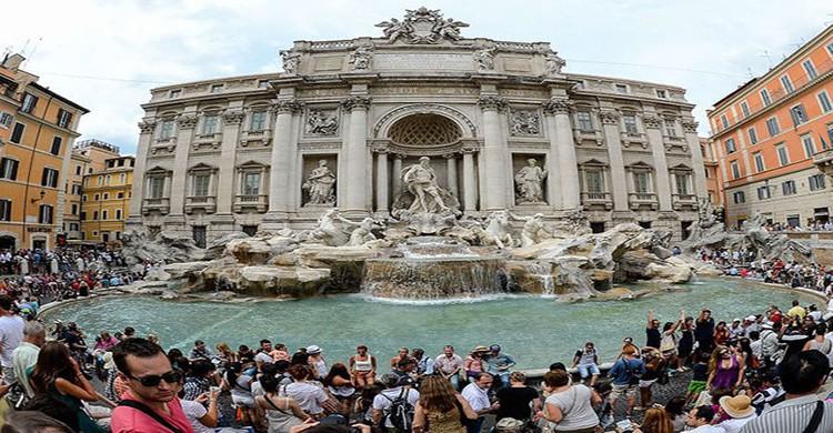 Fontana de Trevi en Roma, Italia