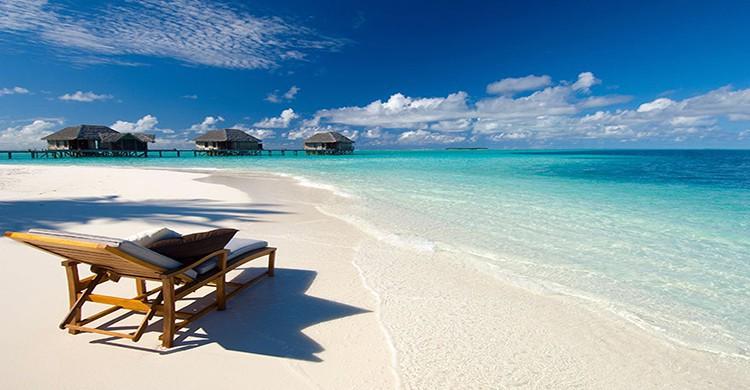 paradisíacas playas de las Maldivas