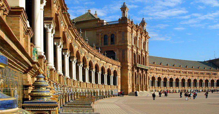 plaza España en Sevilla star wars