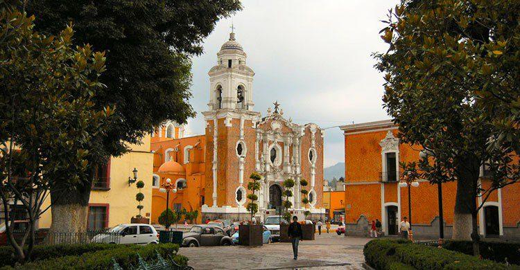 Vista de la catedral En Tlaxcala