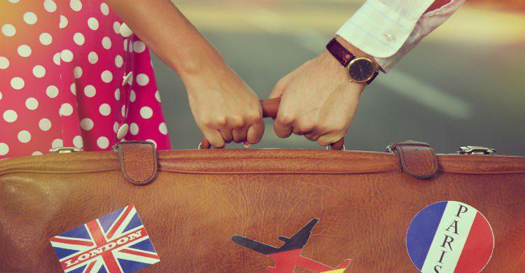 Maleta de viaje en pareja
