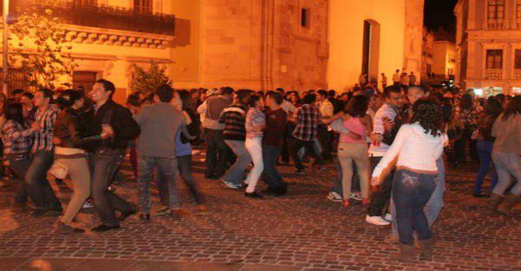Baile durante callejoneadas