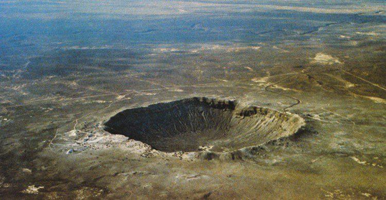 Crater en la tierra