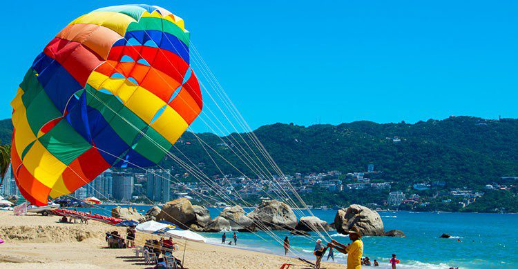 Parachute en acapulco