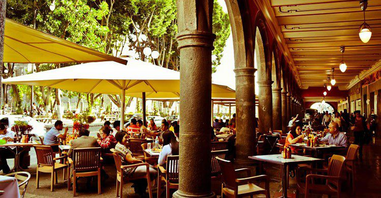 Portales en la ciudad de Puebla