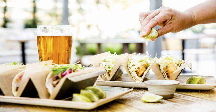 Tacos con cerveza