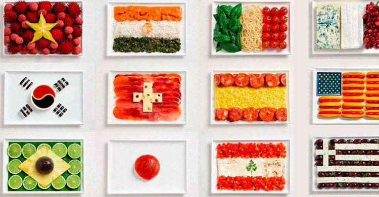 Comida de banderas