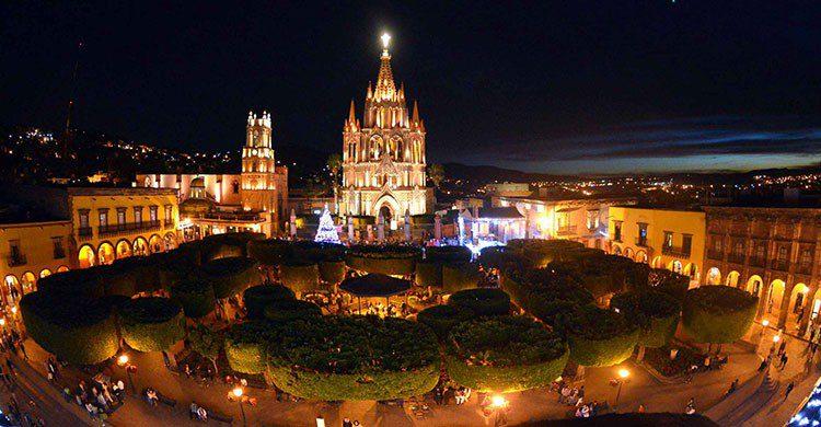 Plaza en San Miguel de allende