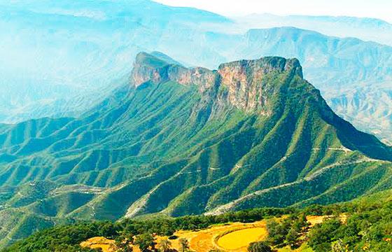 Vista del mirador de cuatro palos Querétaro