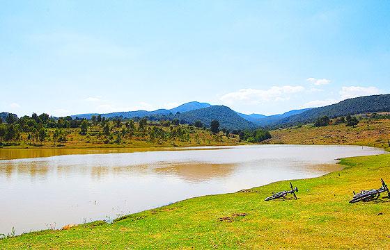 Vista de las lagunas de Servin Querétaro