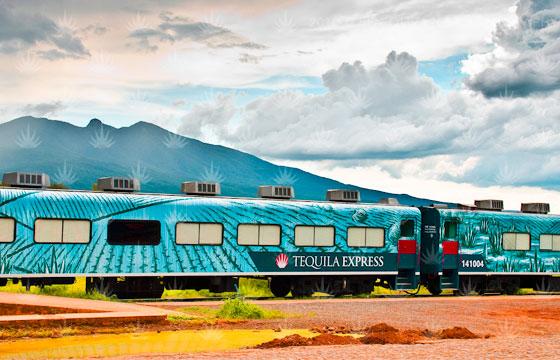Vista del Tren Tequila Express de Guadalajara