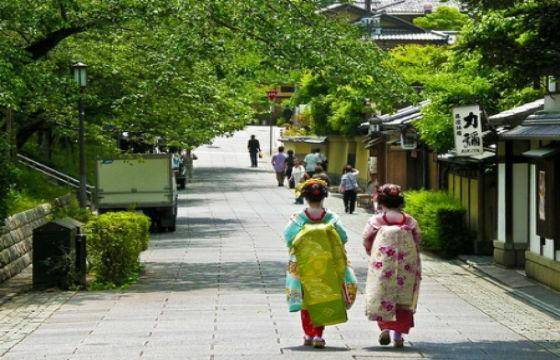 La ciudad de Kioto de la historia memorias de una Geisha