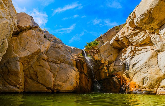 Vista del imperdible Cañón de Guadalupe Baja California