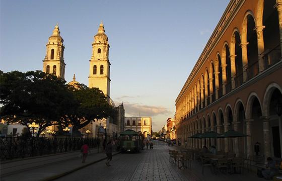 Vista del centro de Campeche Ruta Maya