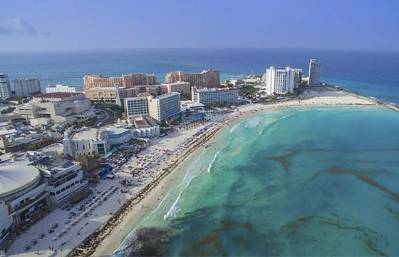 Vista de las Playas de Cancún Quinta Roo lugar de la Ruta Maya