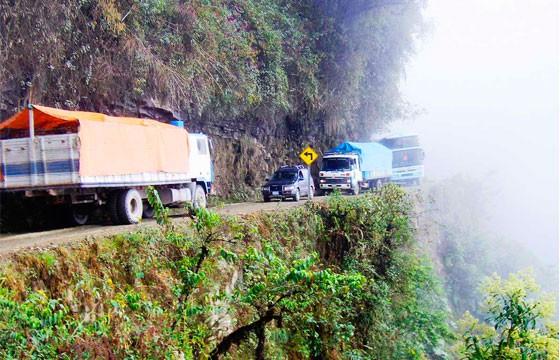 El camino de la muerte, Bolivia. Carreteras más extremas-peligrosas del mundo.