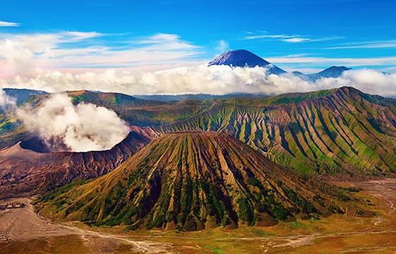 Vista del Monte Bromo en Indonesia, Sudeste Asiático