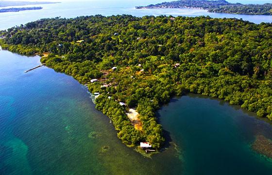 Vista de la Isla Solarte Panamá