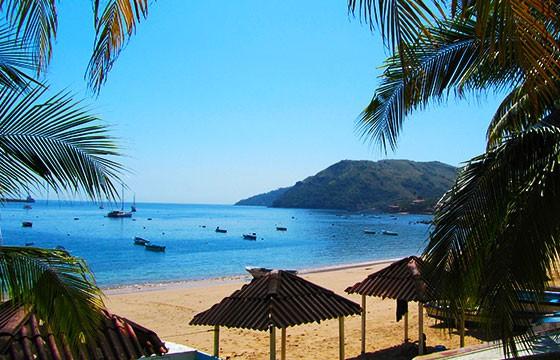 Vista de la Isla Taboga en Panamá