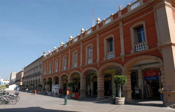 Vista de la Plaza de Armas, Celaya