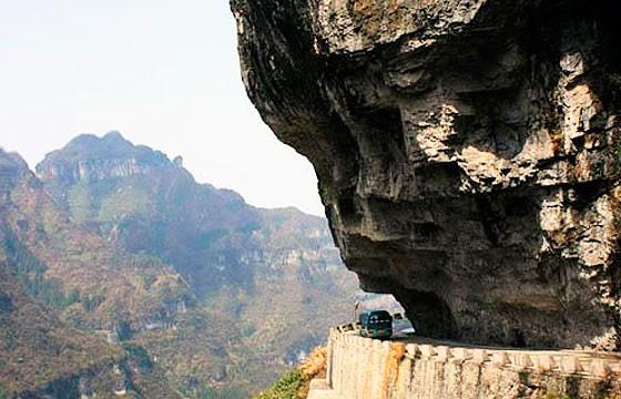 Ruta Tian Men Shan, China. Carreteras más extremas-peligrosas del mundo.
