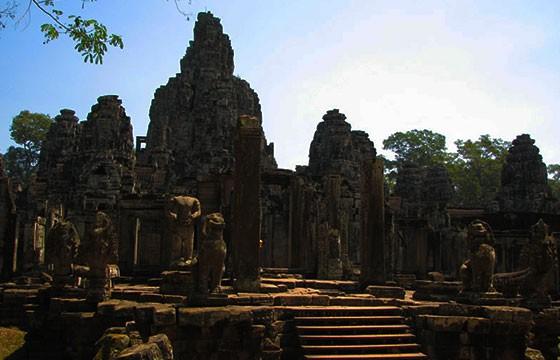Vista de los Templos de Angkor en Camboya, Sudeste Asiático