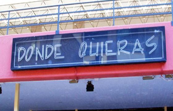 Bar Donde Quieras. Nombres raros de bares.