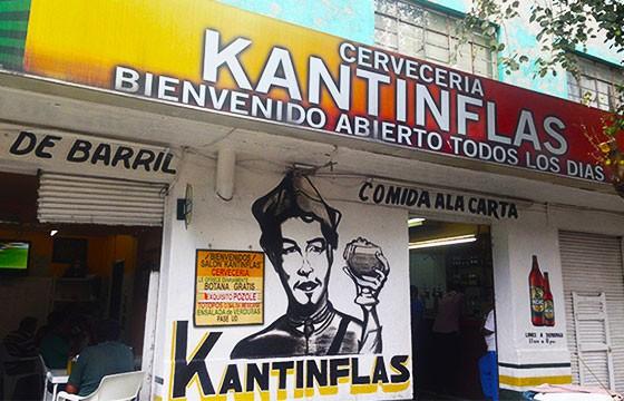 Bar Kantinflas. Nombres raros de bares.