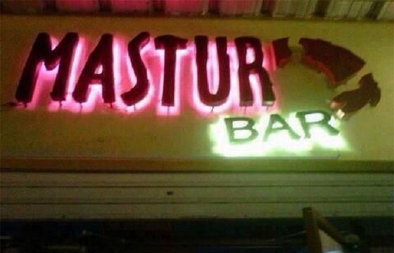 Bar Mastur Ba. Nombres raros de bares.
