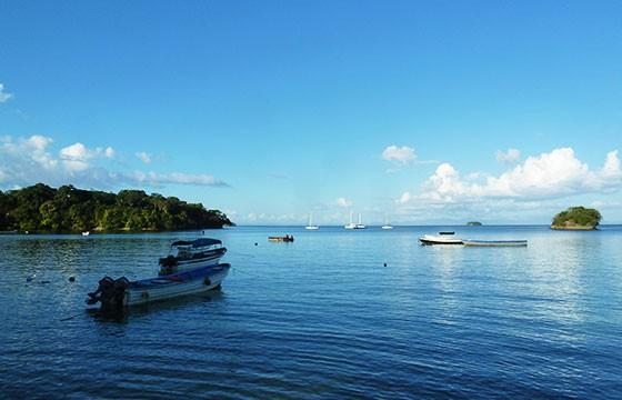 Vista del Archipiélago de las Perlas en Panamá