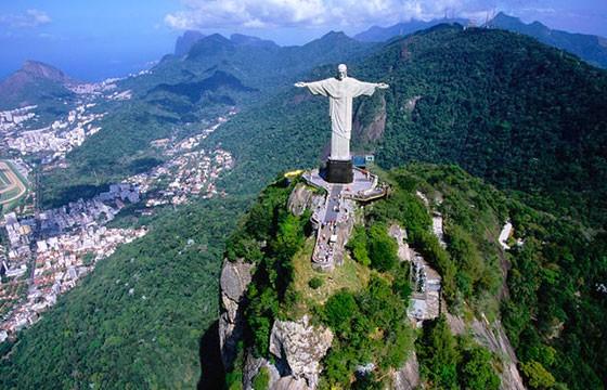 Vista del Cristo Redentor en Brasil