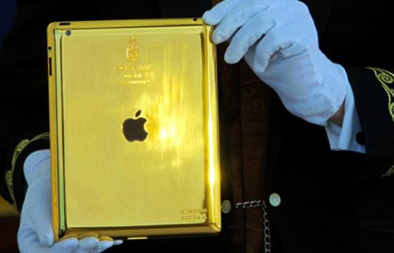 iPad de oro puro.