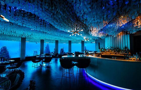 Bar, bajo el agua