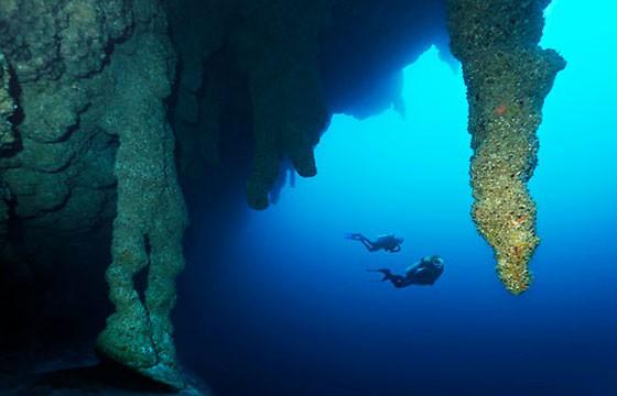 Bucear en el agujero azul en Belice