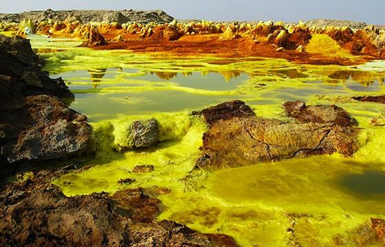 Vista del Volcán Dallol en Etiopía