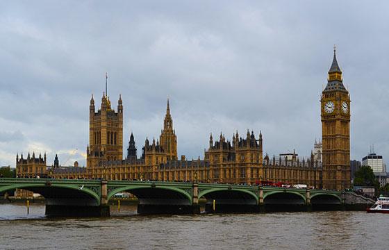 Vista de la ciudad de Inglaterra