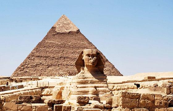 Vista de las pirámides de Egipto