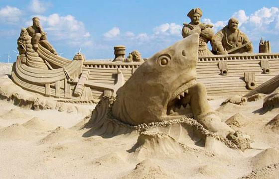 Escultura de tiburón