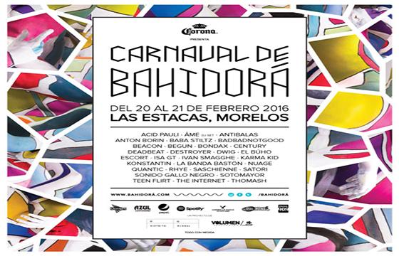 LINE UP CARNAVAL BAHIDORA