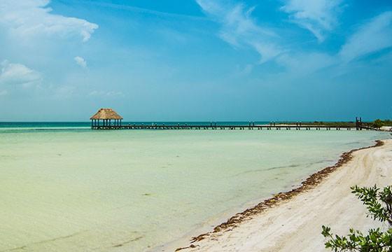 beach Holbox island Mexico Strand-dronepicr-Flickr