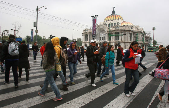 Gente en la ciudad de México