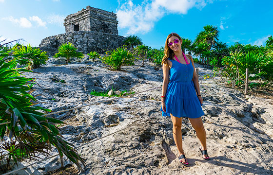 Deya at Ruinas Tulum Mexico-Nan Palmero-Flickr