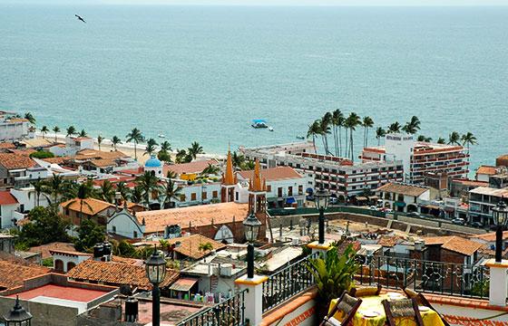 Puerto Vallarta from above, looking at the Malicon (walkway) - and Rosita Hotel, Puerto Vallarta, Jalisco, Mexico-Wonderlane-Flickr