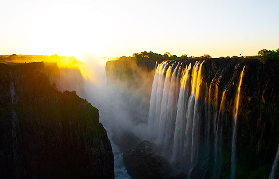 Sunset at the Victoria Falls-Mario Micklisch-Flickr