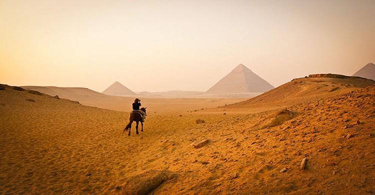 Pirámides de Giza en El Cario, Egipto