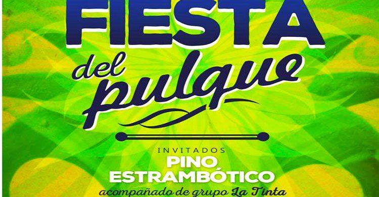 Cartel oficial fiesta del pulque
