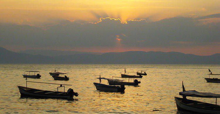 Atardecer laguna Chapala