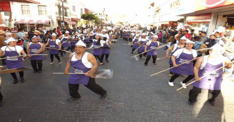 Danza de los mekos en carnaval
