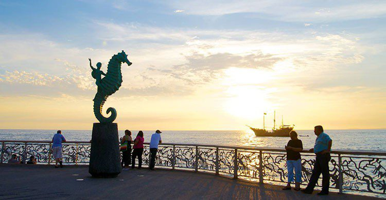 Malecón en Puerto Vallarta